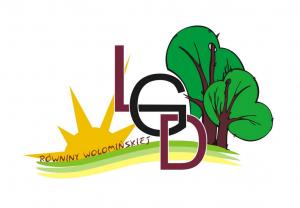 """Logotyp Lokalnej Grupy Działania """"Równiny Wołomińskiej"""""""
