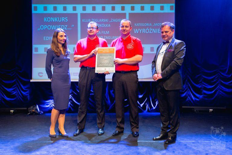 Przedstawiciele laureata w konkursie Opowiedz