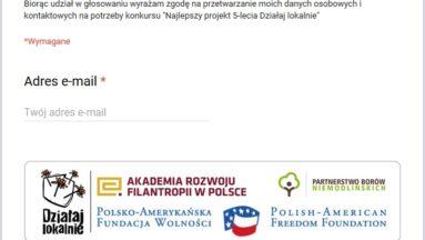 """Konkurs na projekt 5-lecia """"Działaj lokalnie"""" w Borach Niemodlińskich"""