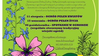 """""""Ogród pełen kwiatów"""" plakat"""
