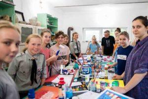 Uczestnicy warsztatów artystycznych