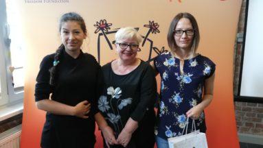 Gala wręczania grantów  Ewa Dziemieszonek, Justyna Potomska, Anna Przybytniak - Grabowska