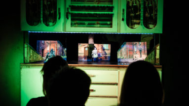 """Wizyta w Spółdzielni Socjalnej """"Horyzonty Kultury"""" - papierowy teatr na byfyju, spektakl po śląsku"""