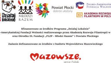 Baner z informacjami o projekcie i logami organizacji zaangażowanych w projekt