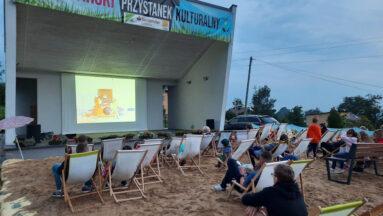 Plaża w Zamarskach - kino plenerowe