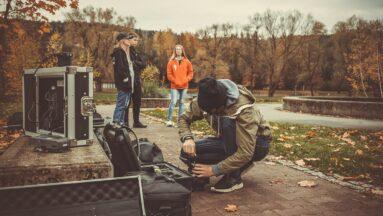 Zdjęcia z planu filmowego