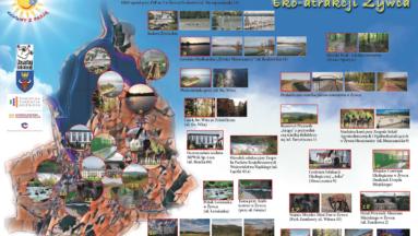 Mapa szlaku Eko-atrakcji Żywca