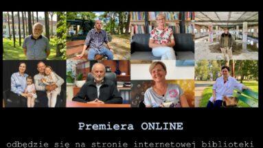 Plakat zapraszający na premierę finału projektu online.