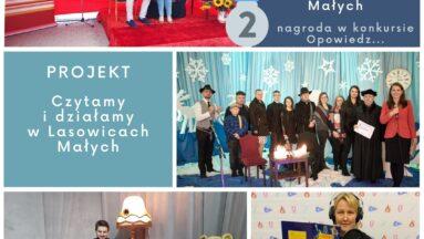 """Zdjęcia z realizacji projektu """"Czytamy i działamy w Lasowicach Małych"""" - nagrodzonego w konkursie Opowiedz..."""