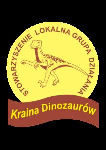 """Logo Stowarzyszenie Lokalna Grupa Działania """"Kraina Dinozaurów"""""""